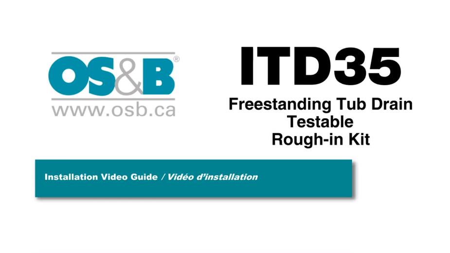 OS&B Island Tub Drain Rough-in Installation